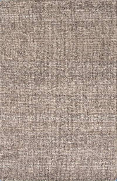 Wool and rayon chenille blend area rug, 'Centra' - Hand Woven Wool and Rayon Area Rug in Solid Taupe/ Ivory