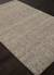 Wool and rayon chenille blend area rug, 'Centra' - Hand Woven Wool and Rayon Area Rug in Solid Taupe/ Ivory (image 2c) thumbail