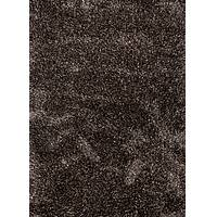 Shag solid black/taupe polyester and wool area rug, 'Veria' - Shag Solid Black/Taupe Polyester and Wool Area Rug