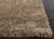 Shag solid ivory/brown wool and polyester area rug, 'Davida' - Shag Solid Ivory/Brown Wool and Polyester Area Rug (image 2b) thumbail