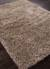 Shag solid ivory/brown wool and polyester area rug, 'Davida' - Shag Solid Ivory/Brown Wool and Polyester Area Rug (image 2c) thumbail