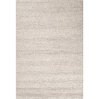 Textured tone-on-tone gray wool area rug, 'Sunda' - Textured Tone-on-tone Gray Wool Area Rug