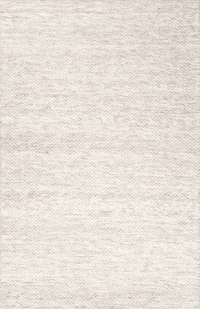Textured stripe ivory/wheat wool area rug, Nomen