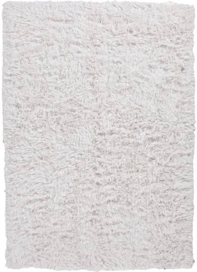 Shag area rug, 'Cloud Dancer' - Shag Solid Ivory/Off White Polyester Area Rug