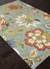 Transitional floral blue/multi wool area rug, 'Sky Medley' - Transitional Floral Light Blue/Multi Wool Area Rug (image 2c) thumbail