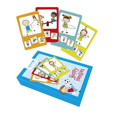 UNICEF card game, 'Happy Families' - Unicef Charity Children's Game