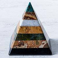 Gemstone pyramid, 'Be Positive' - Gemstone pyramid