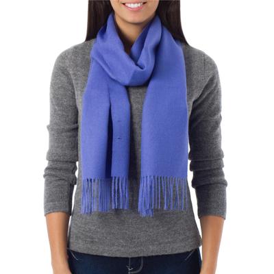 100% alpaca scarf, 'Lily Valley' - Baby Alpaca Warm Soft Winter Scarf