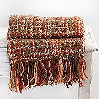 Throw, 'Joyous Earth' - Indian Artisan Earth-Toned Throw