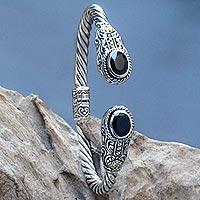 Garnet cuff bracelet, 'Gelgel Empress'