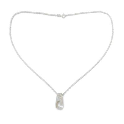 Sterling silver pendant necklace, 'Maya Infinity' - Sterling Silver Pendant Necklace