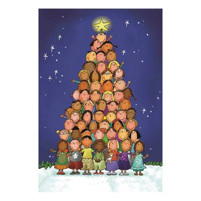 Children of the World Christmas Cards Set of 10, 'Children of the World' - Unicef Charity Christmas Cards