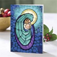 A Mother's Arms Christmas Cards Set of 10, 'A Mother's Arms' - Unicef Charity Christmas Cards