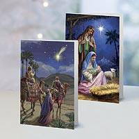 A Midnight Clear Christmas Cards Set of 10, 'A Midnight Clear' - Unicef Charity Christmas Cards