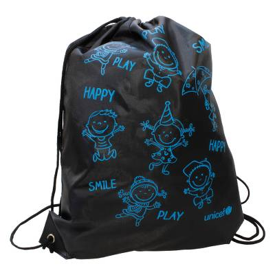 Unicef Drawstring Bag 'Happy Play Smile'  - Unicef Drawstring Bag