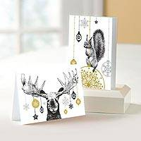 Unicef Charity Christmas Cards (Set of 10), 'Festive Animals' - Unicef Charity Christmas Cards
