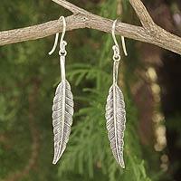 Sterling silver dangle earrings, 'Flight' - Unique Sterling Silver Dangle Earrings
