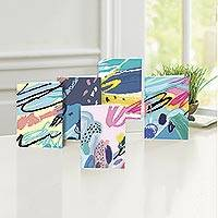 UNICEF All-occasion cards, 'Abstract Deliberations' (set of 10) - UNICEF Abstract Motif All-Occasion Cards (set of 10)