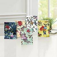 UNICEF All-occasion cards, 'Birds Amid Blossoms' (set of 10) - UNICEF Birds & Flowers All-Occasion Cards (set of 10)