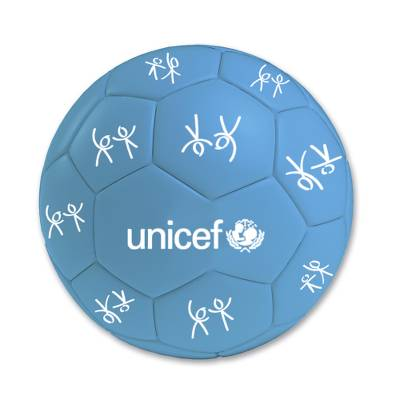 UNICEF Football - UNICEF Football Blue with Logo