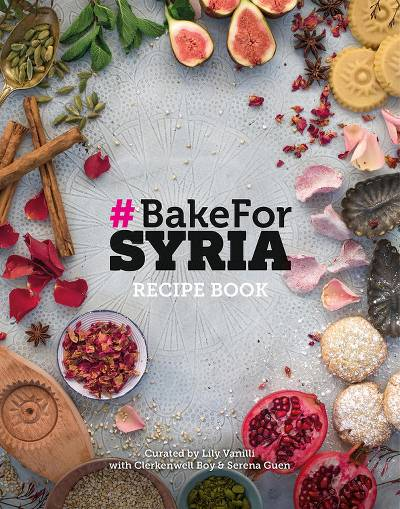 Hardcover book, '#Bake for Syria' - Authentic Syrian Cookbook for UK Syria Emergency Fund