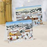 Unicef Charity Christmas Cards (Set of 10), 'Winter in the Country' - Unicef Charity Christmas Cards (Set of 10)