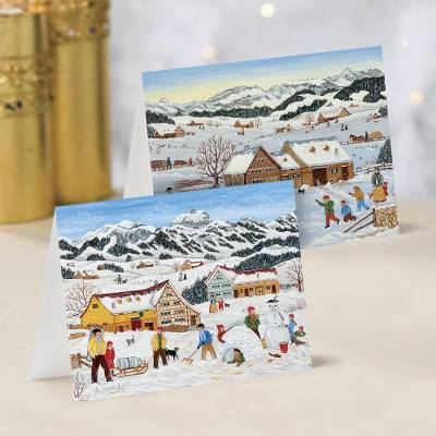 Unicef Charity Christmas Cards (Set of 10), 'Winter Playground' - Unicef Charity Christmas Cards (Set of 10)