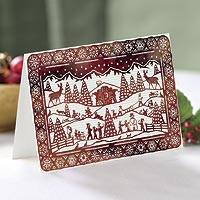 Unicef Charity Christmas Cards (Set of 10), 'Festive Alpine' - Unicef Charity Christmas Cards (Set of 10)