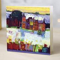 Unicef Charity Christmas Cards (Set of 10), 'Scottish Snow Scene' - Unicef Charity Christmas Cards (Set of 10)
