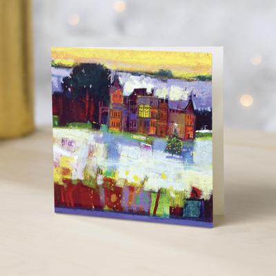 Unicef Charity Christmas Cards (Set of 10), 'Scottish Snow Scene' - Unicef Charity Christmas Cards (Set of 10)