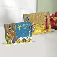 Unicef Charity Christmas Cards (Set of 10), 'Contemporary Nativity' - Unicef Charity Christmas Cards (Set of 10)