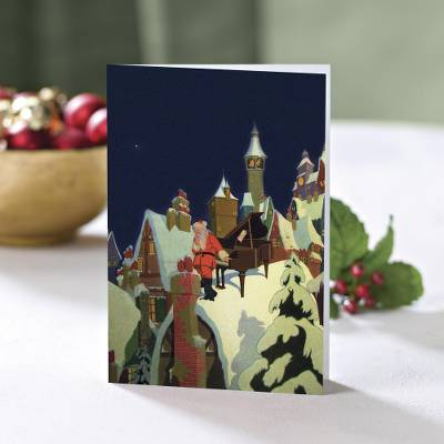 Unicef Charity Christmas Cards (Set of 10), 'Vintage Santa' - Unicef Charity Christmas Cards (Set of 10)