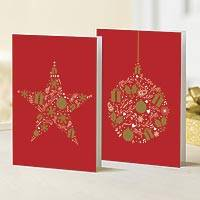 Unicef Charity Christmas Cards (Set of 10), 'Elegant Symbols' - Unicef Charity Christmas Cards (Set of 10)
