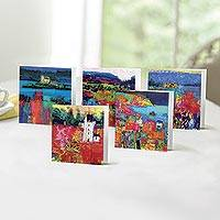 UNICEF greeting cards in keepsake box, 'Contemporary Scottish Landscapes' (set of 20) - Unicef Charity Greeting Cards in Keepsake Box (Set of 20)