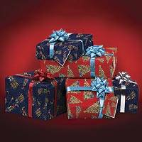 UNICEF gift wrap set, 'Festive' - UNICEF Wrapping Paper Set