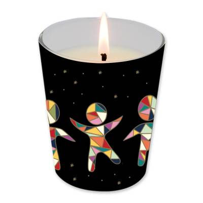 UNICEF Christmas Candle, 'Chasing Dreams' - UNICEF Christmas Candle in UNICEF-Branded Box