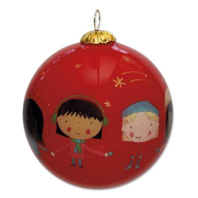 UNICEF Glass bauble ornament - Unicef Charity Christmas Decoration