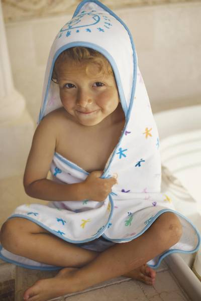 UNICEF Baby and Toddler Towel, 'Cuddle Time' - UNICEF Logo Baby and Toddler Towel-Blanket