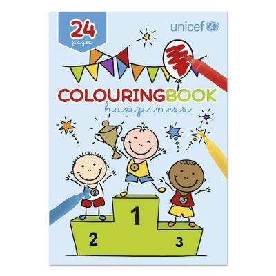 UNICEF coloring book, 'Happiness' - UNICEF 24-Page Coloring Book