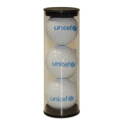 UNICEF golf balls, 'Tee Time' (set of 3) - UNICEF Logo Golf Balls (Set of 3)