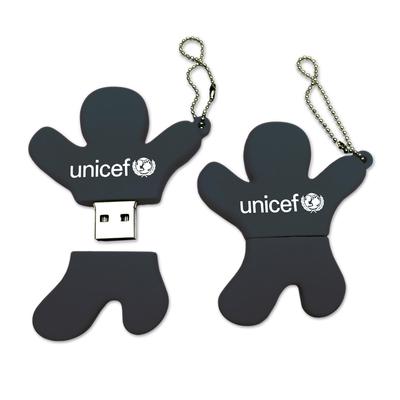 UNICEF USB flash drive, 'Jump for Joy' - UNICEF Silhouette USB Flash Drive in Black