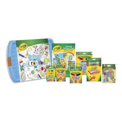 Crayola Color & Create Tub - Crayola 90 piece art set