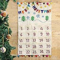 Wool Advent Calendar 'Countdown' - Artisan Crafted Wool Felt Advent Calendar