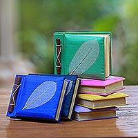 Natural fiber notebooks, 'Nature's Gift' (set of 6) - Natural Fiber Notebooks (Set of 6)