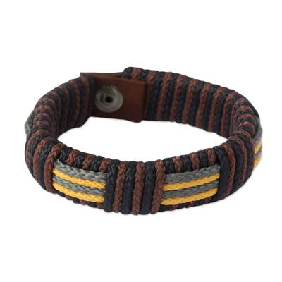 Men's wristband bracelet, 'Song of Africa' - Men's wristband bracelet