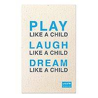 UNICEF tea towel, 'Play, Laugh, Dream' - Play, Laugh, Dream UNICEF Tea Towel