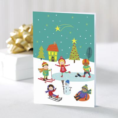 UNICEF holiday greeting cards, 'Nostalgic Daydreams' (set of 10) - UNICEF Kids Holiday Greeting Cards (Set of 10)