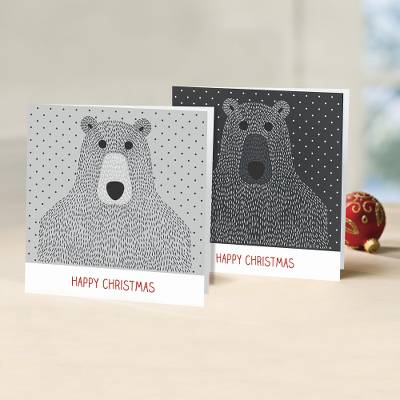 UNICEF holiday greeting cards, 'Beary Christmas to You' (set of 10) - UNICEF Bear Themed Holiday Cards (Set of 10)