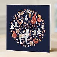 UNICEF holiday greeting cards, 'A Moment in the Woods' (set of 10)