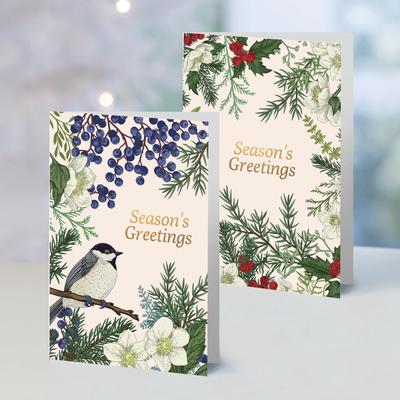 UNICEF holiday greeting cards, 'Botanical Christmas' (set of 10) - UNICEF Botanical Holiday Cards (Set of 10)